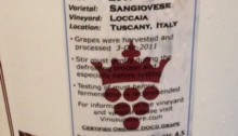 Vino Superiore Sangiovese Label