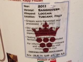 Vino Superiore Sangiovese Label
